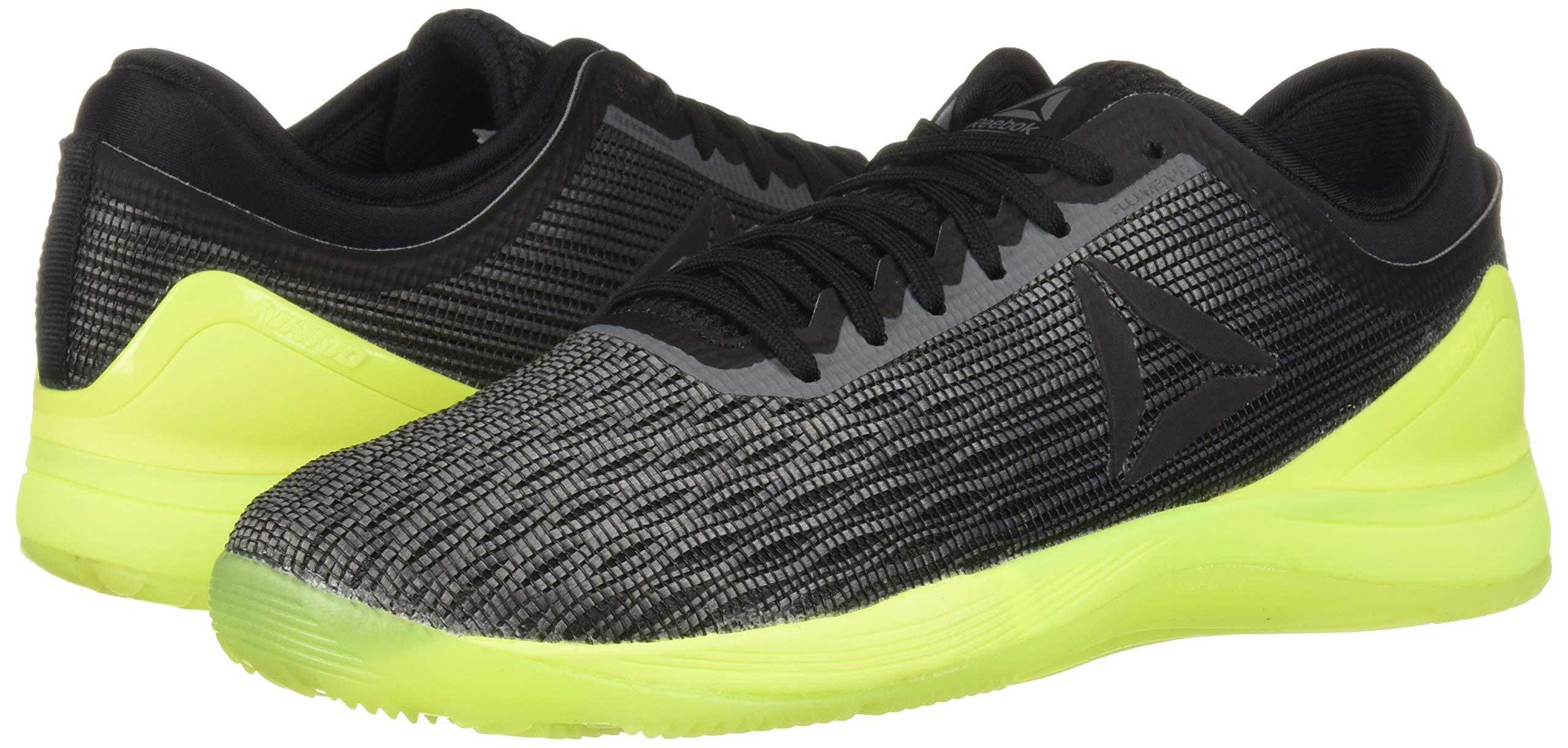 Reebok Men's CROSSFIT Nano 8.0 Sneaker, Alloy/Black/Solar Yellow, 6.5 M US by Reebok (Image #6)