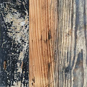 Loryro Wood Wall Panels Solid Reclaimed Easy Peel and Stick Wood Wall Planks Wall Paneling for Home Decor (Sample, Brown)
