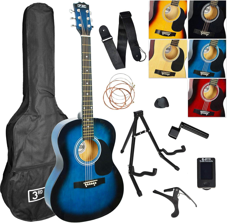 3rd Avenue STX10ECABKPK Paquete de guitarra electroacústica ...