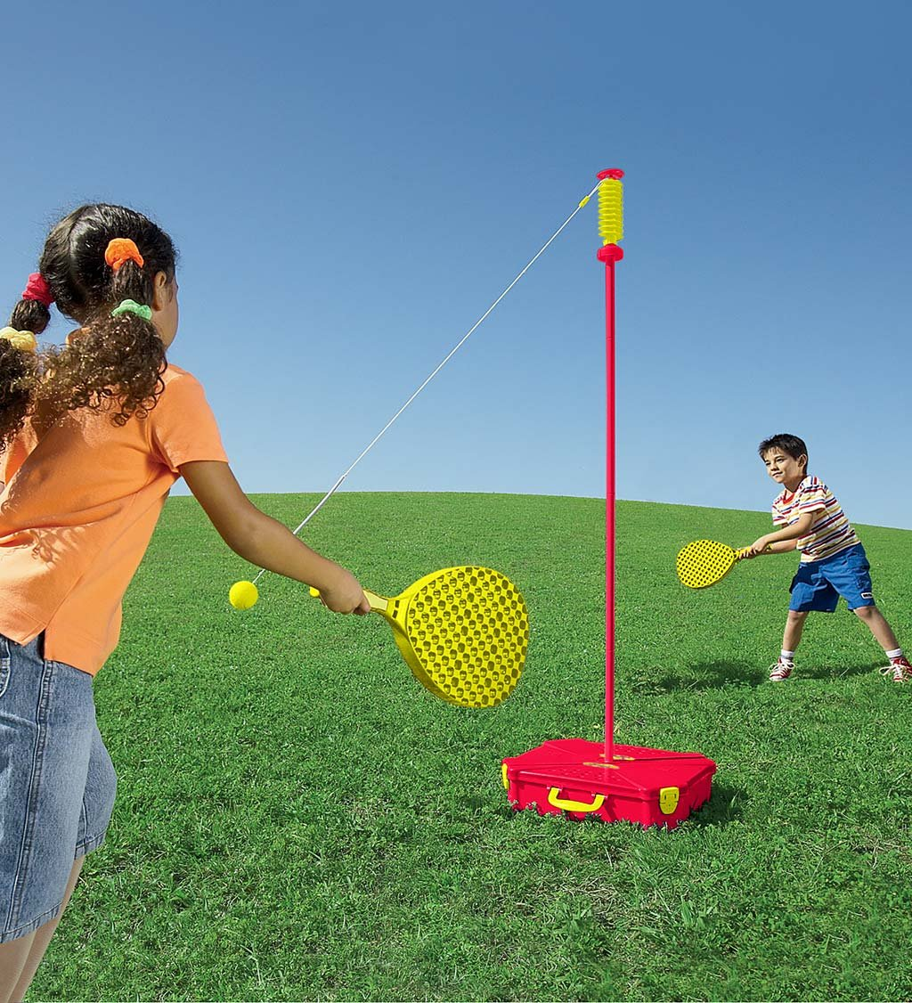 Portable All Surface Classic Swingball Tetherball Outdoor Yard Game with Carrying Case HearthSong