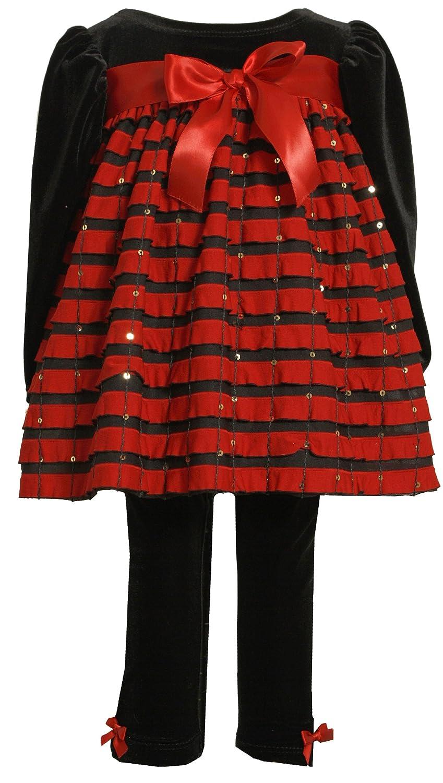 新版 Bonnie Velvet Baby Stretch Girls ' Stretch Velvet Bodice Withレッドフリルとストレッチベルベットレギンス 3 レッド - 6 Months レッド B00AZE06W8, ヘルスタウン:16f7c731 --- a0267596.xsph.ru