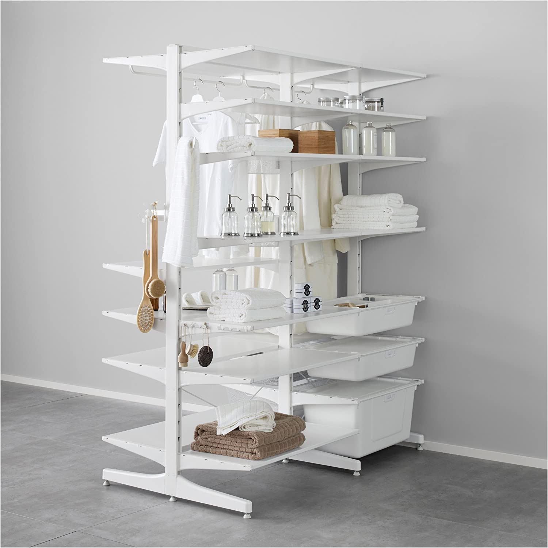 Amazon De Ikea Algot Pfosten Fuss Box Weiss