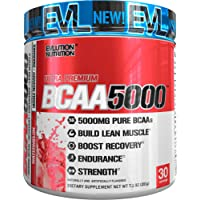 Evlution Nutrition BCAA5000 Powder 5 Grams of Premium BCAAs, 30 Servings (Watermelon)