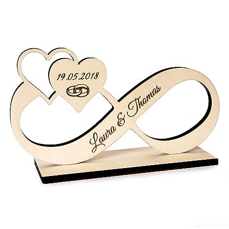 Hochzeitsgeschenke f/ür Brautpaare Casa Vivente W/äsche-Spinne aus Holz Motiv: Herzen Personalisiert mit Namen und Datum Geschenkidee zum Jahrestag Mit Gravur zur Hochzeit
