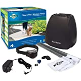 PetSafe Stay & Play Wireless Fence with Replaceable Battery Collar – Covers up to 3/4 Acre – For Dogs & Cats over 5 lb – Wate