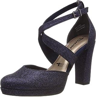 Tamaris 24416-21, Zapatos con Tacon y Correa de Tobillo para ...