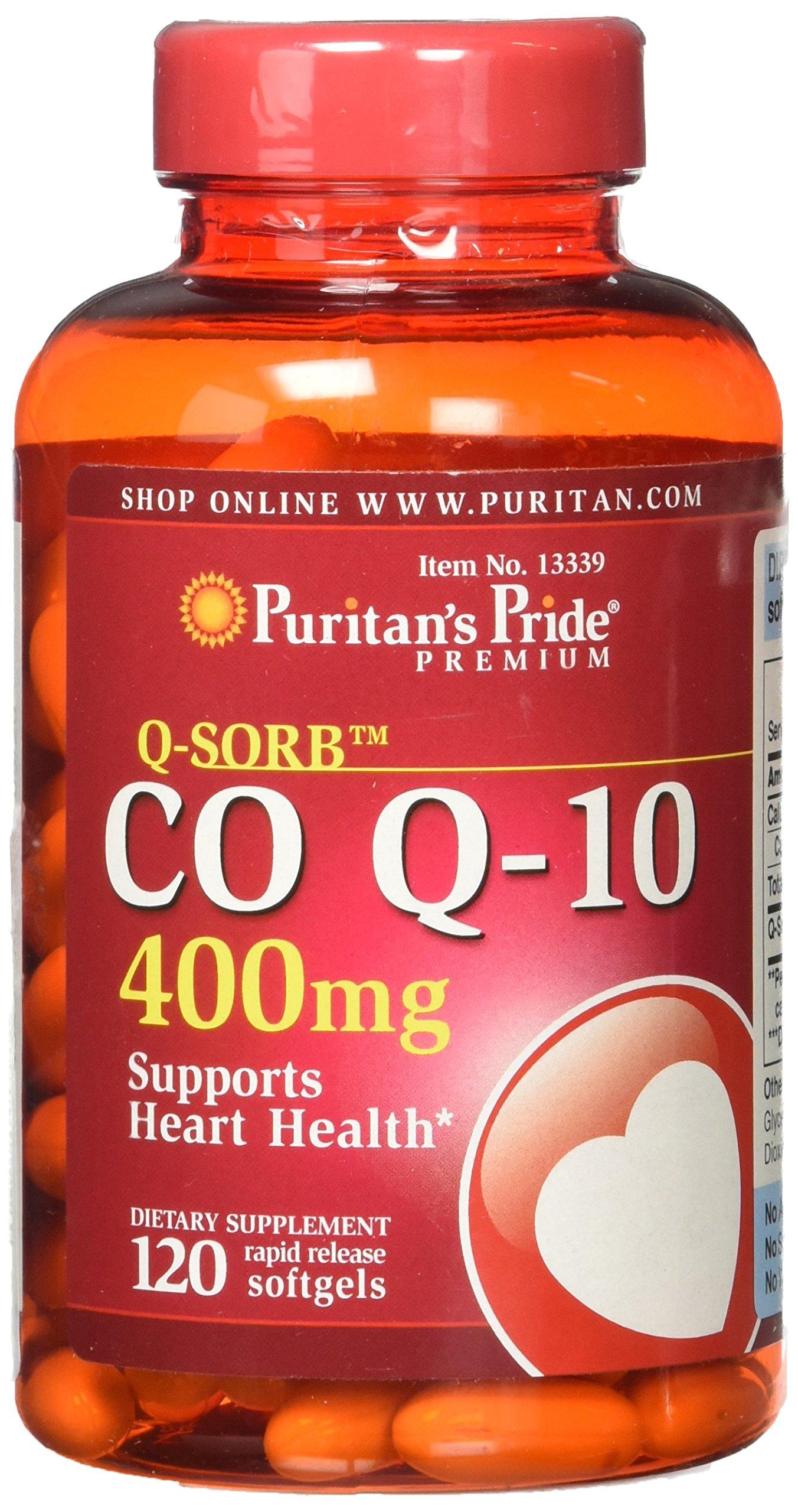 Puritans Pride Q-Sorb CoQ10, 400 Mg, 120 Count