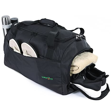 50c22def939 Image Unavailable. Image not available for. Color  Lifewit Sport Gym Bag  with Shoe Compartment ...