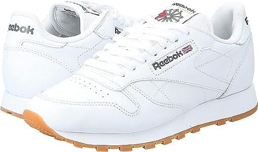 Reebok Classic Leather - Zapatillas de cuero para hombre, color blanco (white / gum 2), talla 42: Amazon.es: Deportes y aire libre