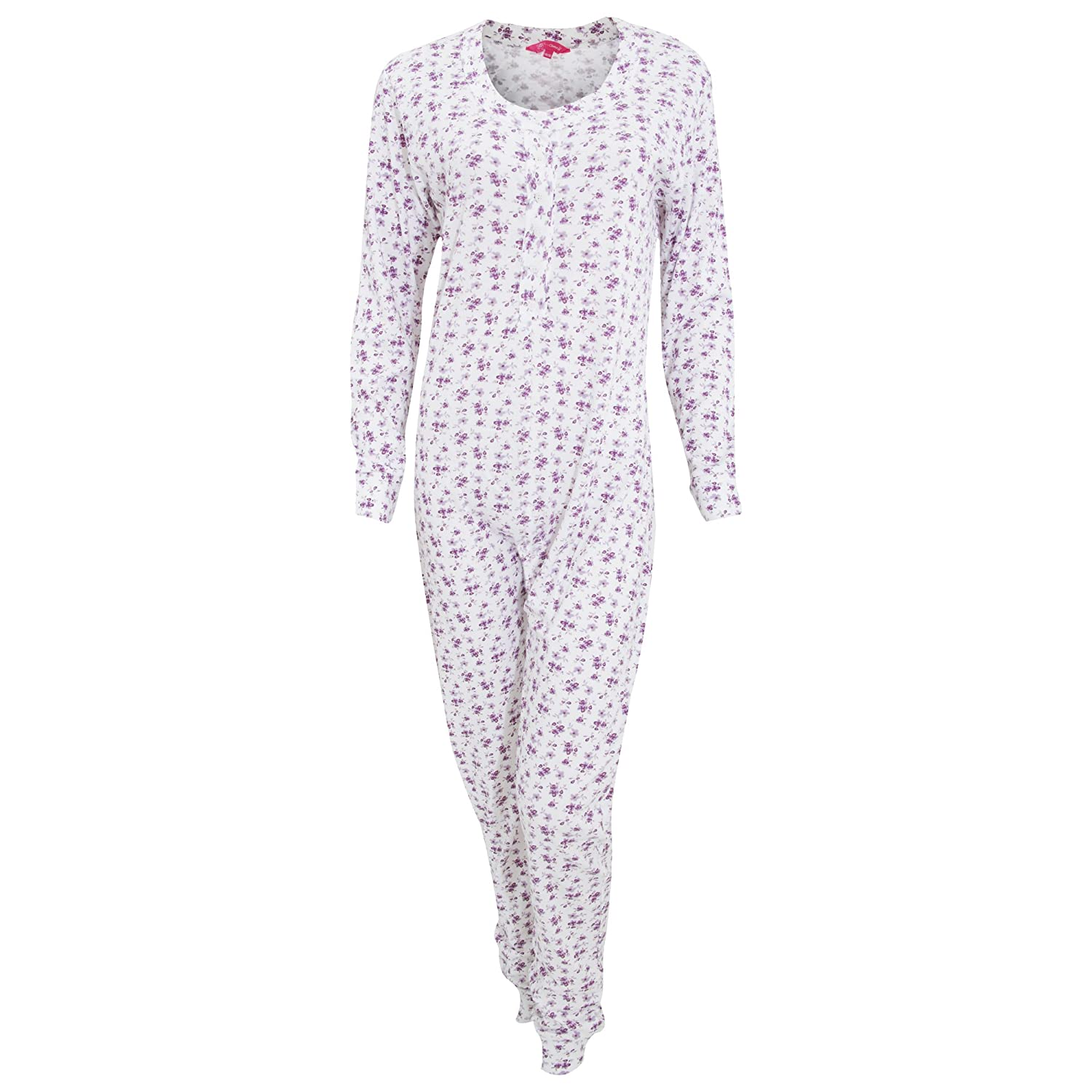 Universal Textiles Womens/Ladies Thermal Floral Pattern All In One Bodysuit