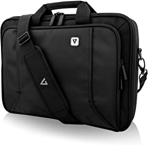 "V7 CCP16-BLK-9N 16"" Professional Front Loading Laptop Case (RFID, Weather Resitant),Black"
