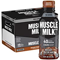 Muscle Milk Pro Series Protein Shake,  Knockout Chocolate, 32g Protein, 14 Fl Oz...