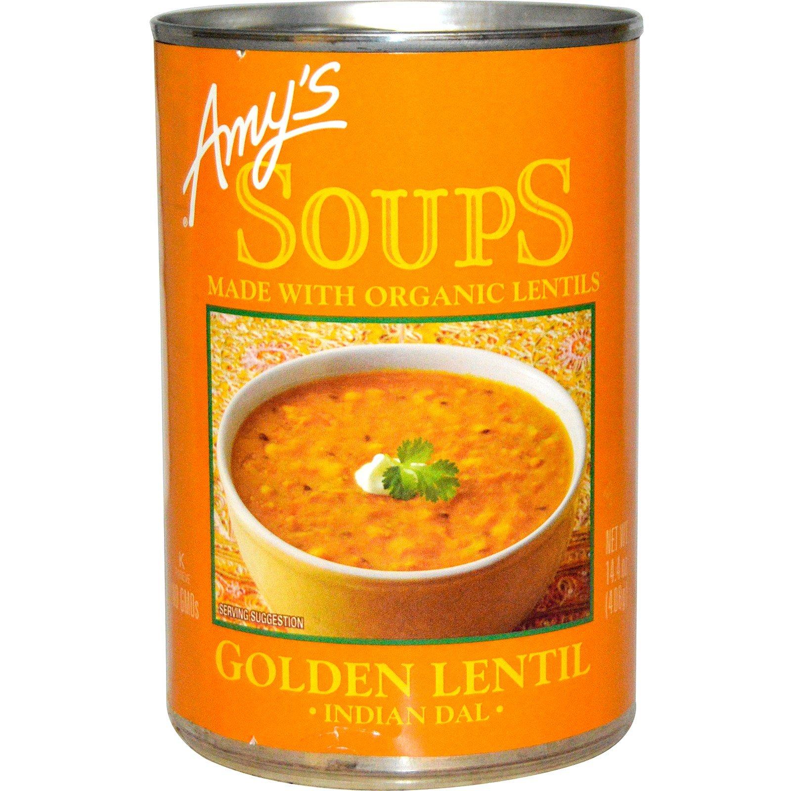 Amy's, Soups, Golden Lentil, Indian Dal, 14.4 oz pack of 2