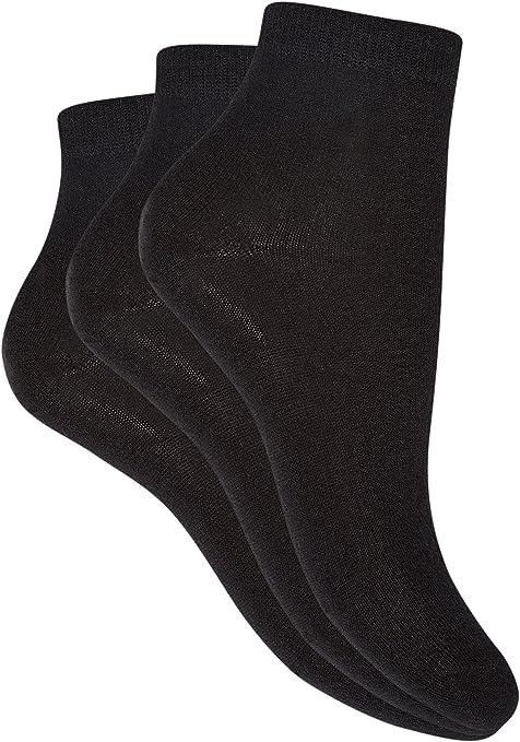 oodji Ultra Mujer Calcetines Básicos (Pack de 3), Negro, ES 38-40 ...