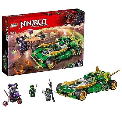 LEGO Ninjago Ninja Nightcrawler, Bike & Car with Shooter Function, Masters of Spinjitzu Building Set: Toys & Games