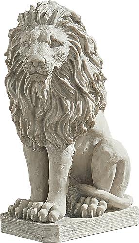 Design Toscano Mansfield Manor Lion Sentinel Animal Statue