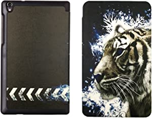 ZhouYun Lenovo IdeaTab A10-70 A7600 10-Inch Case - Premium Tri-fold PU Leather Case Slim Light Weight Stand Cover for Lenovo A10-70 A7600-f A7600-h 10.1 Inch Tablet LH