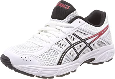 Asics Gel-Contend 4 GS, Zapatillas de Running Unisex Niños, Blanco (White/Onyx/Classic Red 0199), 39.5 EU: Amazon.es: Zapatos y complementos