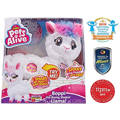 Pets Alive Boppi The Booty Shakin Llama Battery-Powered Dancing Robotic Toy by Zuru: Toys & Games