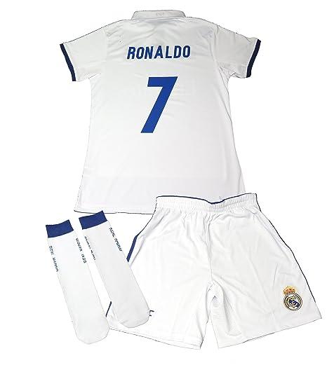 CONJUNTO REAL MADRID NIÑO CON DORSAL DE CRISTIANO RONALDO 1º ...