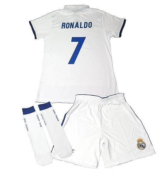 10 opinioni per Real Madrid Kit Pantaloncino, Maglietta e Calzettoni, per Bambino. Replica della