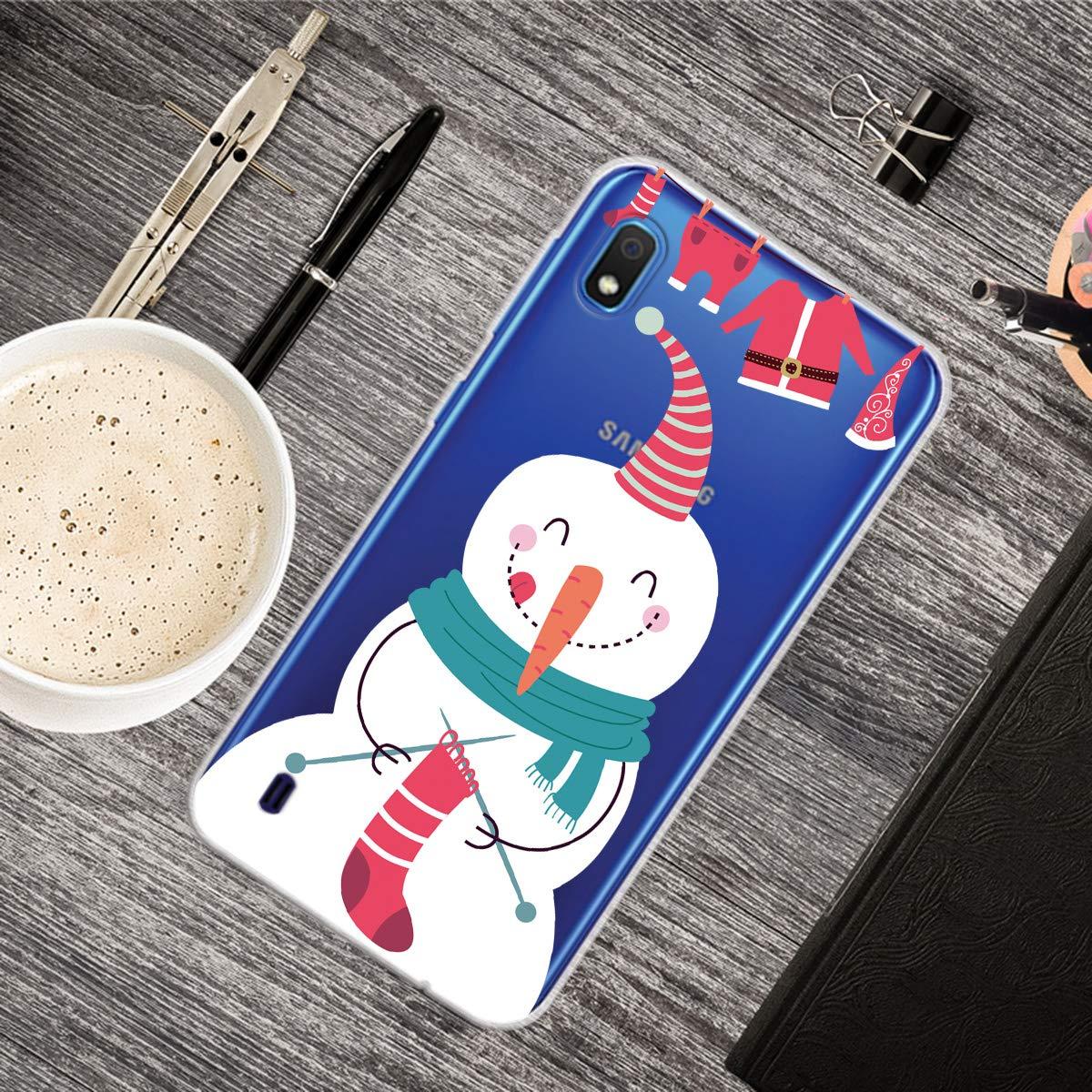 Big Santa YiCTe Christmas TPU Case pour Samsung Galaxy A10 Joyeux No/ël Cadeau Motif Paysage Dessin Anim/é Caract/ère Animal Conception Effacer Silicone Doux Antichoc Couverture De Protection