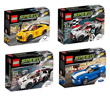 Amazon.com: LEGO Speed Champions 4 Set Toy Car Bundle Chevrolet ...