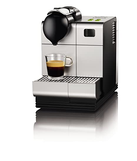 DeLonghi EN520S - Cafetera monodosis, 19 bares, preparación automática de Capuccino, color plateado