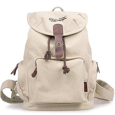 Amazon.com | DGY Women's Korean Fashion Canvas Backpack For ...
