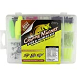 Crappie Magnet Best of the Best Kit - 96 Bodies, 15 Double Cross Jig Heads, 4 E-Z Floats