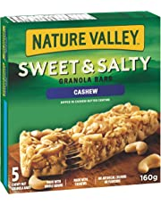 NATURE VALLEY Sweet and Salty Cashew Granola Bars, 5-Count, 160 Gram