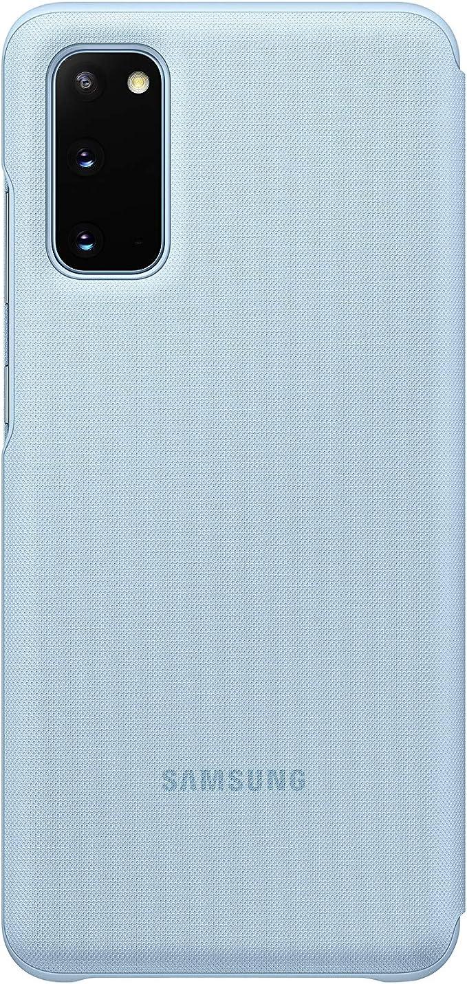 Samsung Led View Smartphone Cover Ef Ng980 Für Galaxy S20 S20 5g Handy Hülle Led Anzeige Kartenhalterung Blau Elektronik