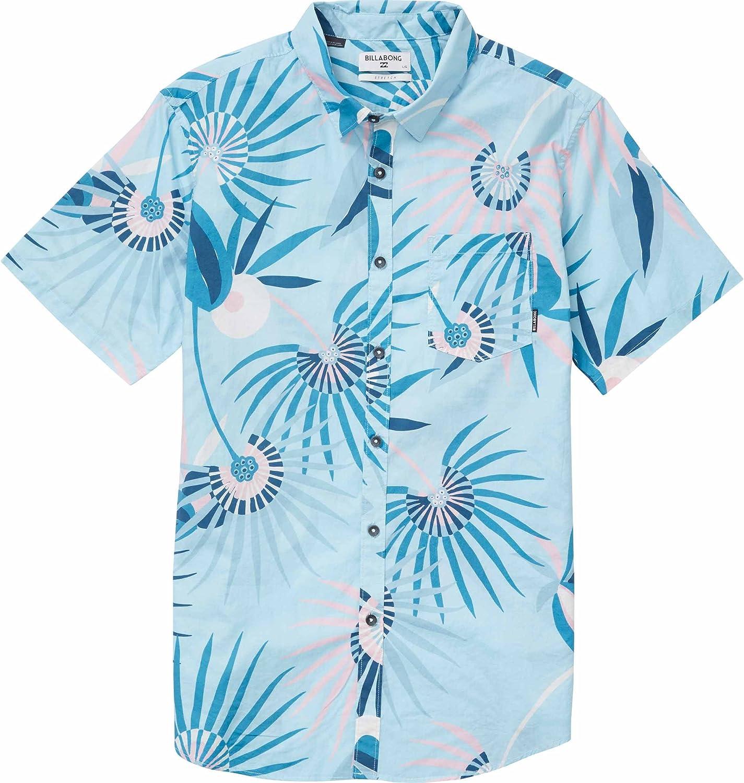 Billabong Sunday Floral - Camisa de manga corta para hombre - Azul - Small: Amazon.es: Ropa y accesorios