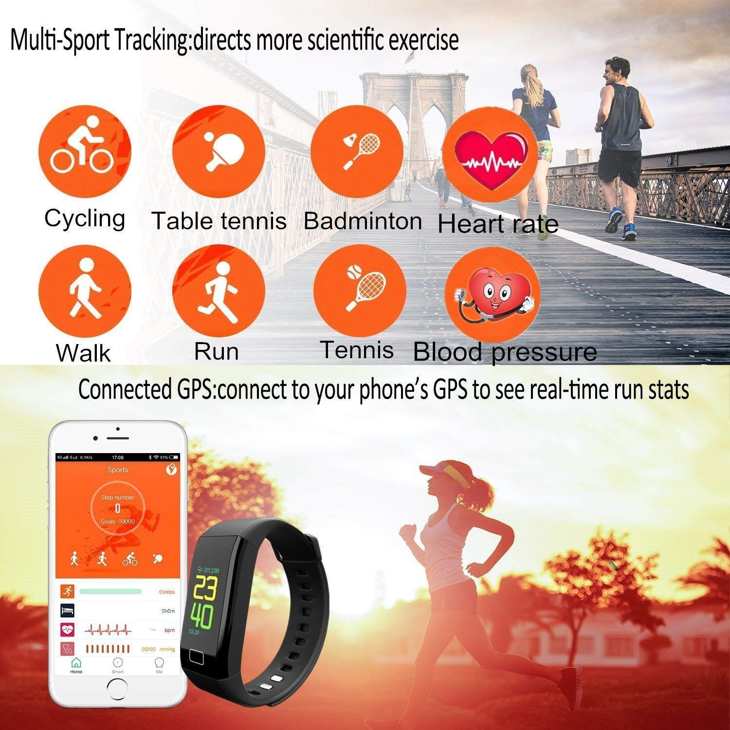 Oxyland Fitness Tracker Waterproof - Activity Tracker Watch with Heart Rate  Monitor, Blood Pressure Monitor, Sleep Monitor, Step Counter, Calorie
