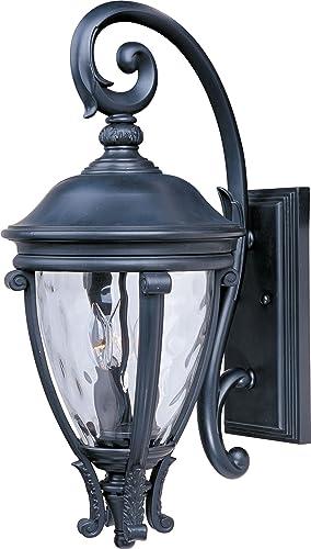 Maxim 41425WGBK Camden VX Non-corrosive UV Resistant Water Glass Outdoor Wall Sconce