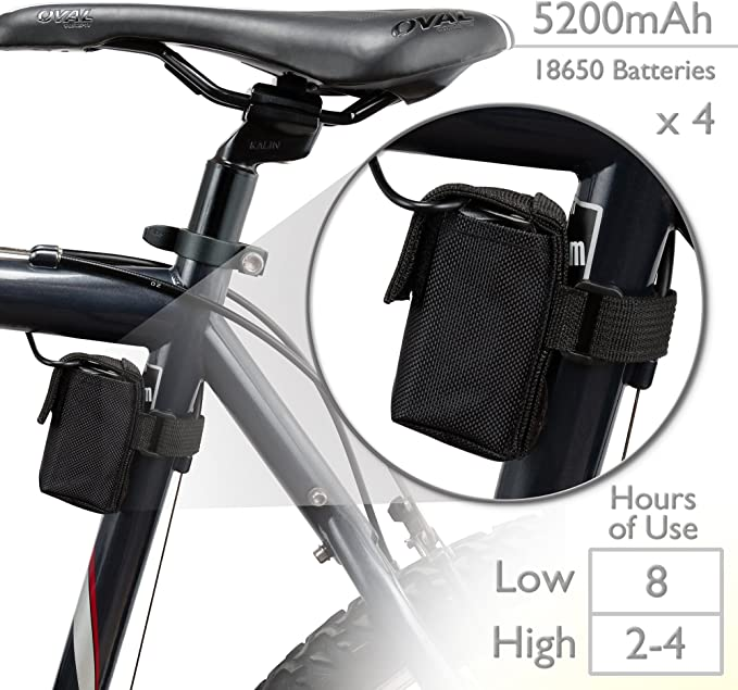 X4 XML T6 LED Mountain Bike Lights Rechargeable Bicycle Front Light Lamp 3modes