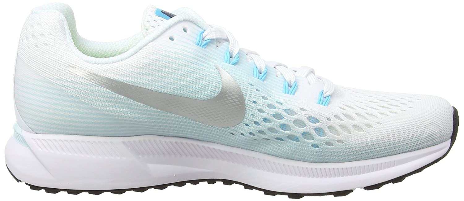 NIKE Women's Air Zoom Pegasus 34 Running US|White/Metallic Shoe B06X9GZZDY 9.5 B(M) US|White/Metallic Running Silver-glacier Blue bd8dcc