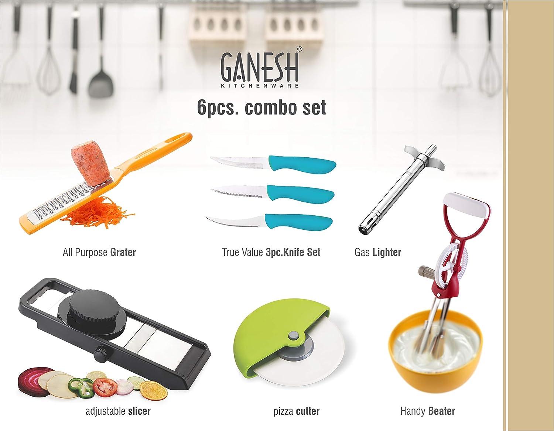 Ganesh Plastic Kitchen Tool Set, 6 in 1 Combo, Multicolour