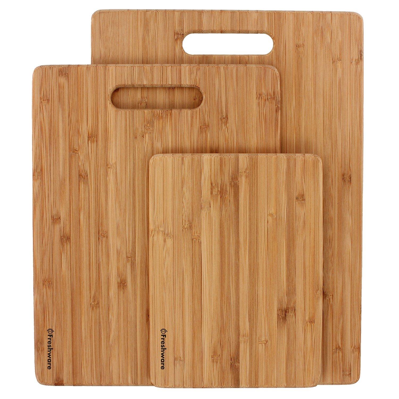 Freshware Bamboo Cutting Board, Set of 3 by Freshware (Image #3)