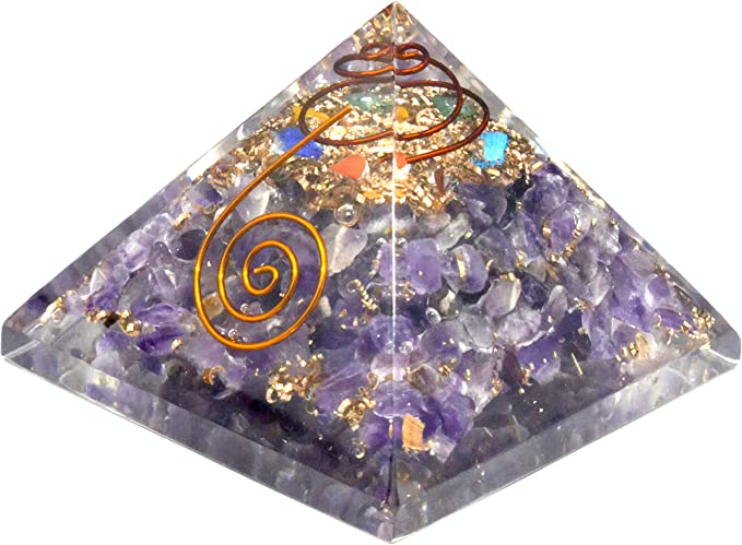 Shivansh Creations Natural Gemstone 7 Point Energy Generator Natural Healing Tool Amethyst