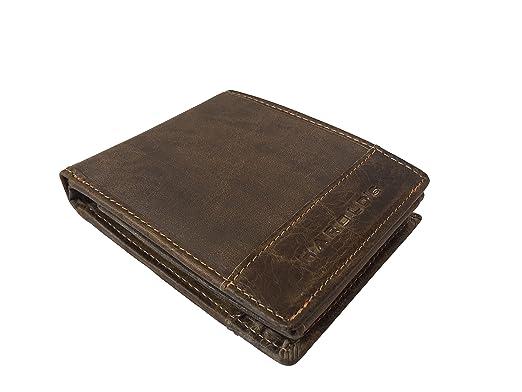 01ac2cbcddd5b5 HAROLD'S Herren Geldbörse Leder/PU Kombination 1182 (braun): Amazon ...