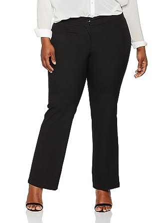 1395787d9e5 Ulla Popken Women s Plus Size Straight Leg Stretch Pants 701852 at Amazon  Women s Clothing store