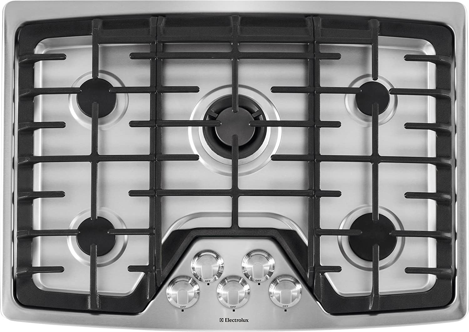 amazoncom electrolux ew30gc60ps builtin gas cooktop 30inch stainless steel appliances