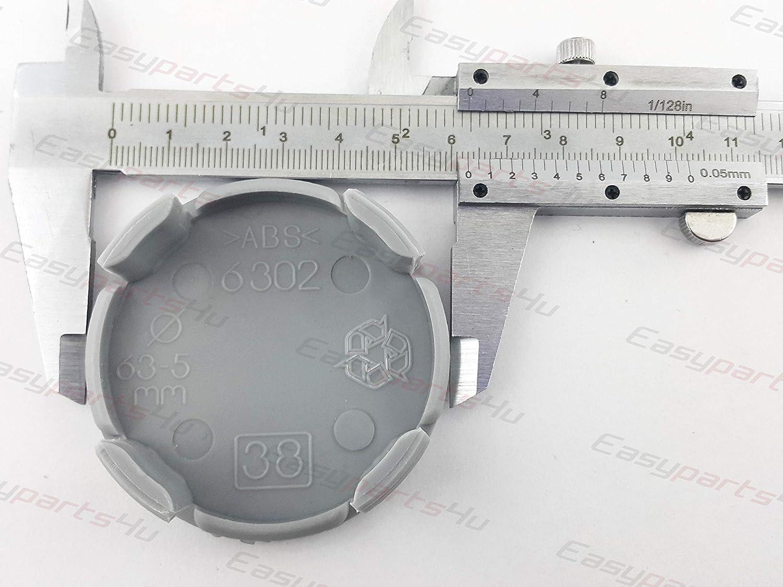 greitapigu.lt 4X Au/ßen 63 mm Innen 58 mm Nabenkappen A25-38 Felgendeckel Radnabendeckel Grau NoLogo