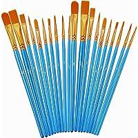 Paint Brushes Set, 2Pack 20 Pcs Paint Brushes for Acrylic Painting, Oil Watercolor Acrylic Paint Brush, Artist…