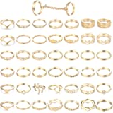 ORAZIO 43PCS Knuckle Rings for Women Mid Finger...
