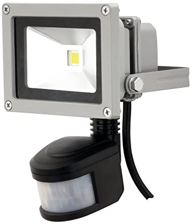 adluminis lámpara foco led exterior faro foco luz, con Detector de movimiento, 10 W