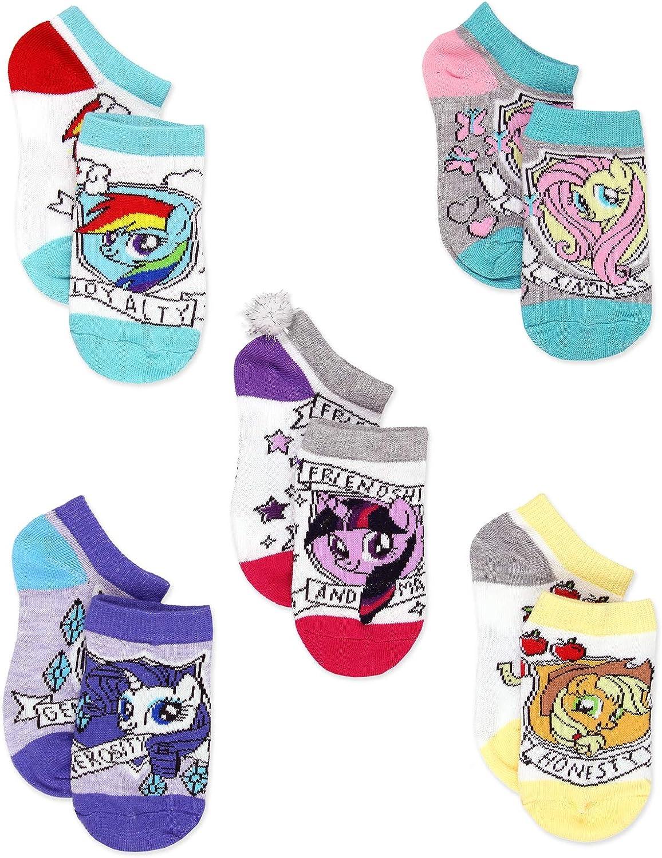 My Little Pony MLP Girls Multi Pack Socks Set (Shoe: 7-10 (Sock: 4-6), White)