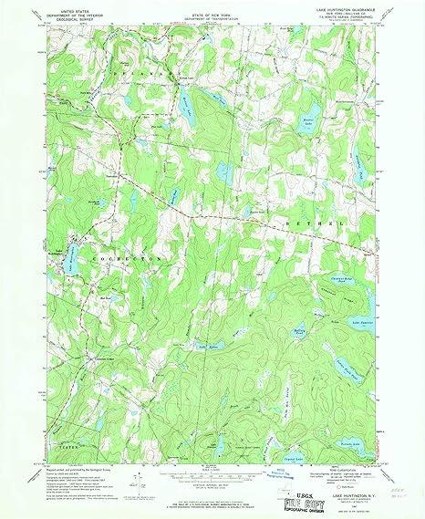 Huntington New York Map.Amazon Com Yellowmaps Lake Huntington Ny Topo Map 1 24000 Scale