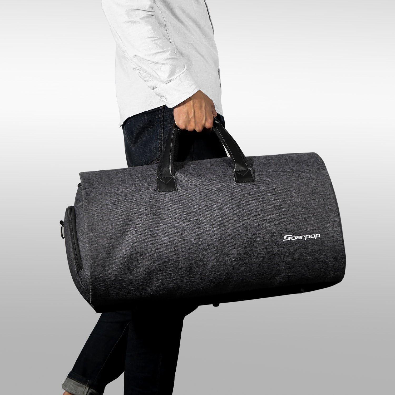 Soarpop Borsone Da Viaggio Tote Da Viaggio Garment Bag Porta abiti 45L Nero
